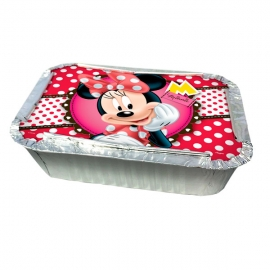 KIT MARMITINHA COM TAMPA RED MINNIE C/8