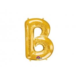 BALAO MET SUPERSHAPE LETRA B DOURAD C/01
