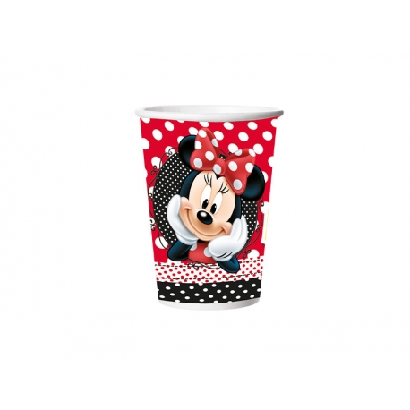 COPO PAPEL 330ml RED MINNIE C/8