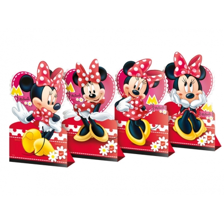 DECORACAO DE MESA RED MINNIE C/4