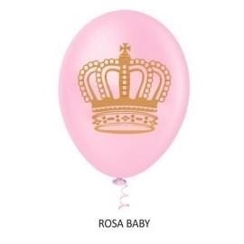 BALAO 10 DEC COROA ROSA BABY C/25