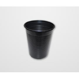 COPO PLASTICO 200 ML PRETO C/50