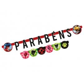 FAIXA PARABENS LADYBUG C/1