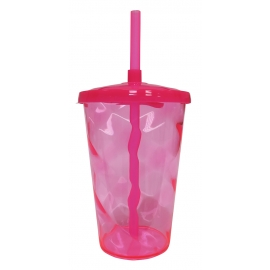 COPO TWISTER 400ML PINK C/1