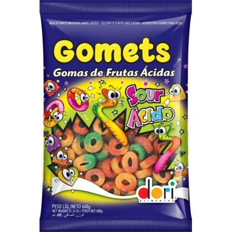 GOMETS ANEL DE FRUTAS ACIDAS 600GR