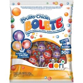 PIRULITO CHICLE BOLETE SORTIDO 525G