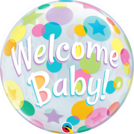 BALAO 22 BUBBLE SIMPLES WELCOME BABY C1