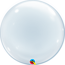 BALAO 20 DECO BUBBLE TRANSPARENTE C/1