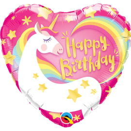 BALAO 18 CORACAO BDAY MAGICAL UNICORN