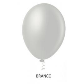 BALAO 10 METALIZADO BRANCO C/50