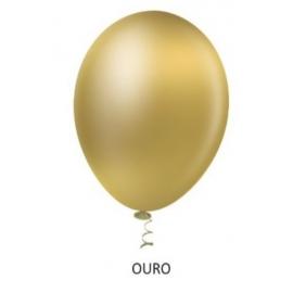 BALAO 10 METALIZADO OURO C/50