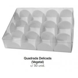 FORM QUADRADA DELICADA BRANCA C/50