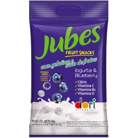JUBES FRUIT SNACKS IOGURTE BLUEBERRY 60G