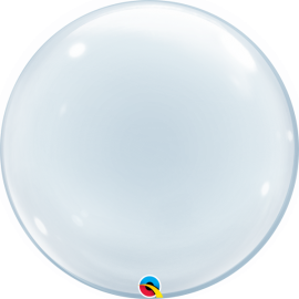 BALAO 24 DECO BUBBLE TRANSPARENTE C/1