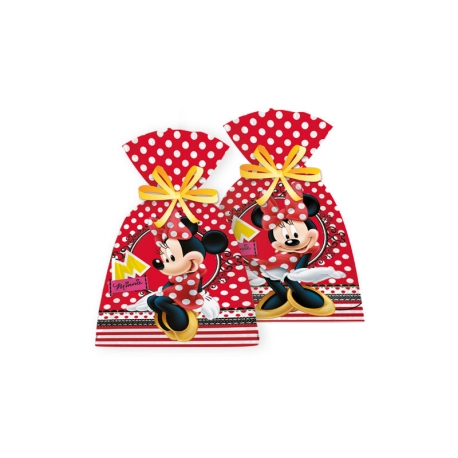 SACOLA PLAST. RED MINNIE C/8