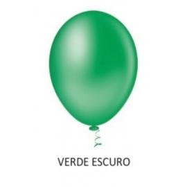 BALAO 08 LISO REDON VERDE ESCURO C/50