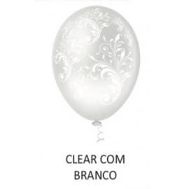 BALAO 10 ARABESCO FLORAL CLEAR/BRAN C/25