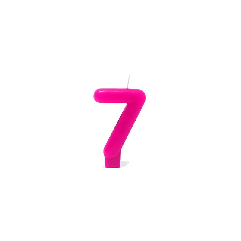 VELA ROSA NUMERO 7