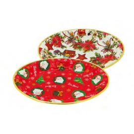 TRAVESSA PLAST DECOR OVAL 31X23X3CM