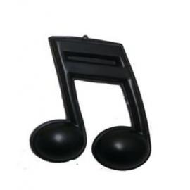ENFEITE NOTA MUSICAL PRETA C/4