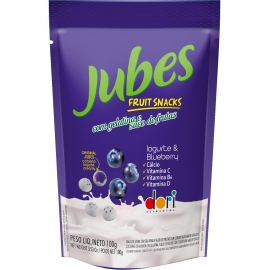JUBES FRUIT SNACK IOGURTE BLUEBERRY 100G