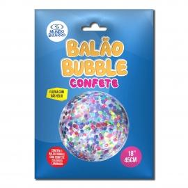 BALAO BUBBLE C/ CONFETE COLORIDO 18 C/1