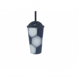 COPO KIDS SOCCER 550 ML - PRETO C/1