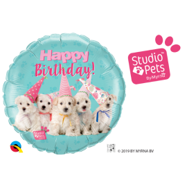 BALAO 18 RED STUDIO PETS BIRTHDAY C/ 1