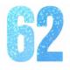 NUMERO DECORATIVO 8 TAMANHO 16CM AZUL C1