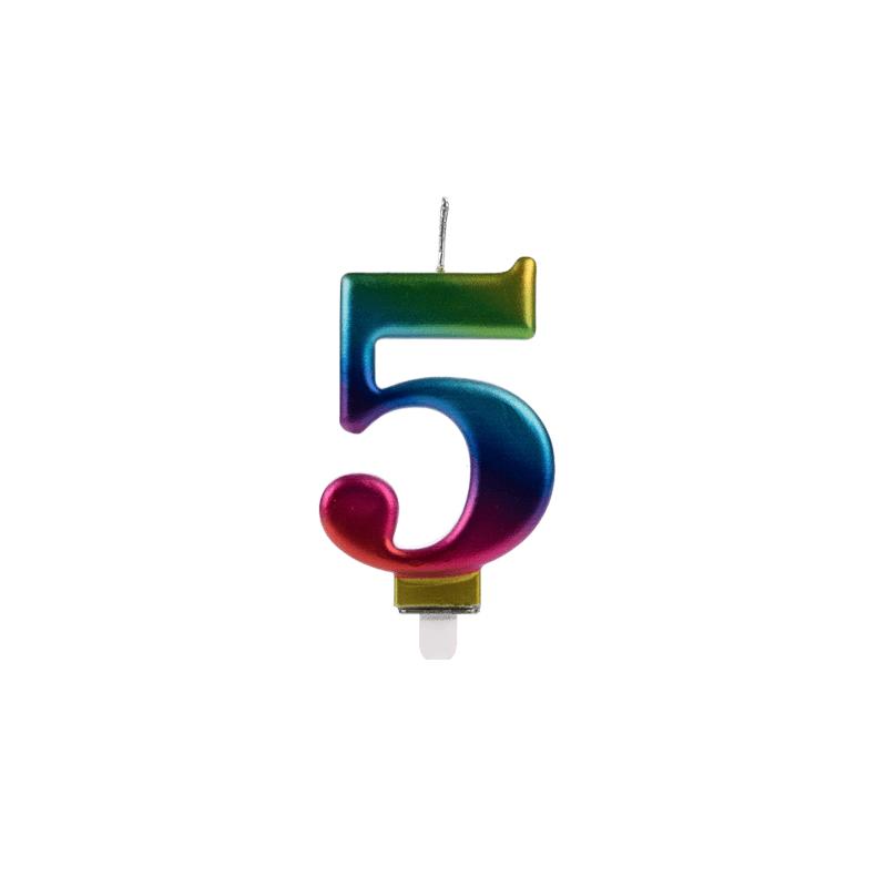 VELA WAVE COLORIDA NUMERO 5