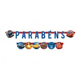 FAIXA PARABENS CARS 3 C/1