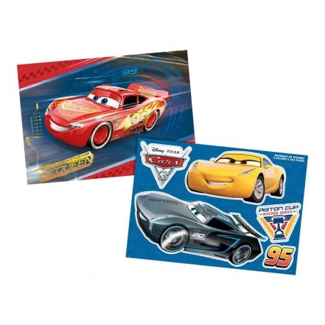 KIT DEC COM APLIQUES CARS 3 C/1