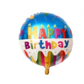 BALAO HAPPY BIRTHDAY MODELO 1 46CM C/1