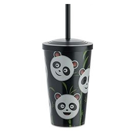 COPO KIDS PANDA 550 ML PRETO C/1