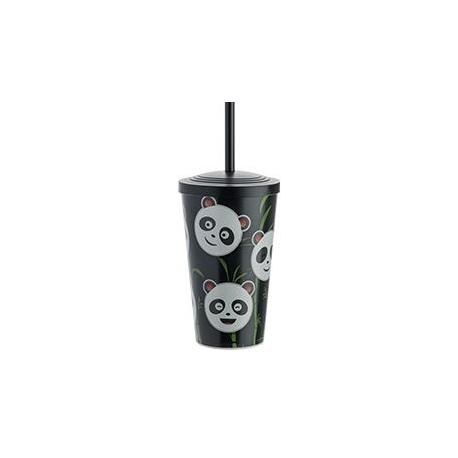 COPO KIDS PANDA 550 ML PRETO C/1
