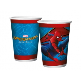COPO PAPEL 180ml SPIDER MAN C/8
