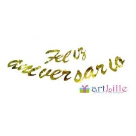 ENFEITE DECORATIVO FELIZ ANIVER C/1