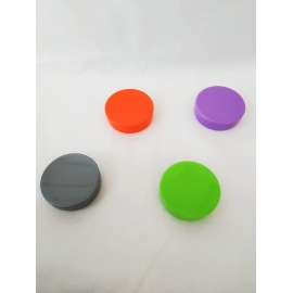 LATINHA PP 5X1CM PLAST MARROM C/1