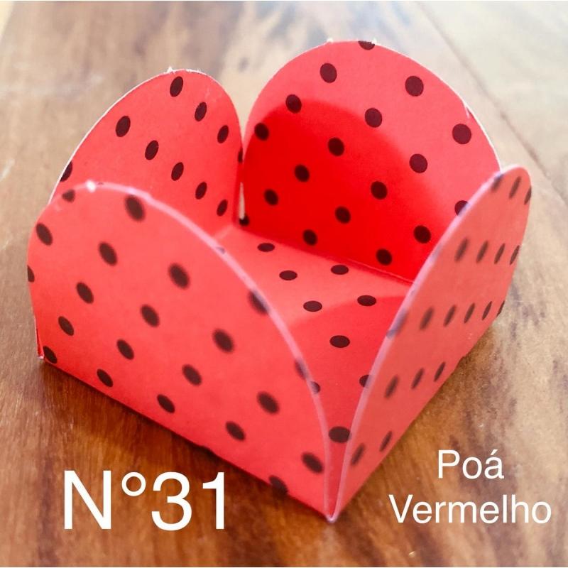 FORM QUADRADA POA VERMELHO/PRETO C/50