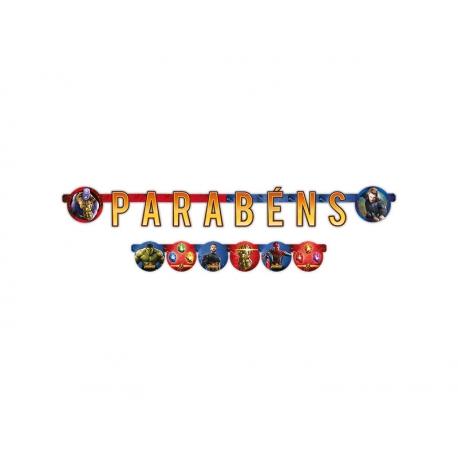 FAIXA PARABENS AVENGERS 3 C/1