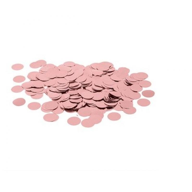 CONFETE METALIZADO ROSE GOLD 1,5CM DE 15GR