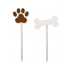 PICK DECORATIVO CACHORRINHOS SORTIDO c/ 12 UN.