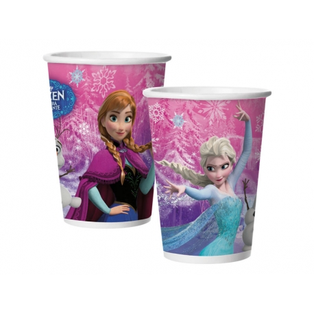 COPO PAPEL 180ml FROZEN C/8