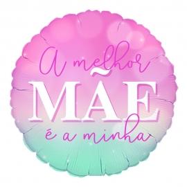 BALAO METALIZADO REDONDO 45CM MELHOR MÃE