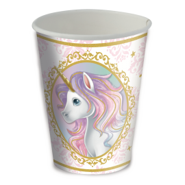 COPO PAPEL 200ML UNICORNIO C/8