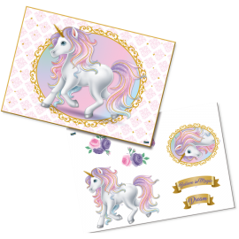 KIT DECORATIVO UNICORNIO C/1
