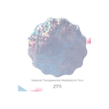 TAPETINHO PARA FORMINHA TRANSPARENTE (7 cm) c/ 100 UN.
