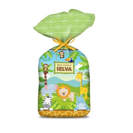 SACOLA PLAST. SURP BEM VINDO A SELVA C/8