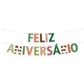 FAIXA FELIZ ANIV MUNDO DOS DINOS C/1